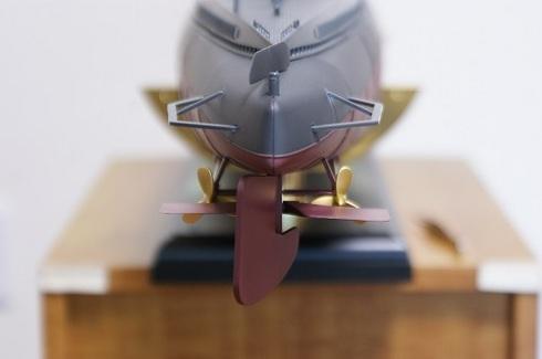 夫が作る伊四〇〇。完成した写真。舵.JPG