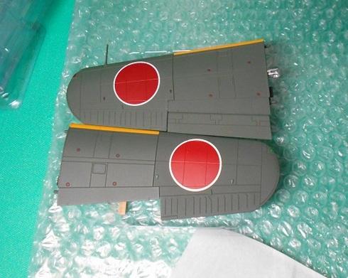 夫が作る模型飛行機「晴嵐」。翼.JPG