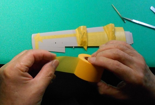夫が作る帆船模型・日本丸。ターンバックルを取り付ける.JPG