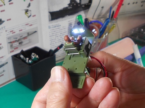 夫が作る模型飛行機「晴嵐」。コックピット.JPG