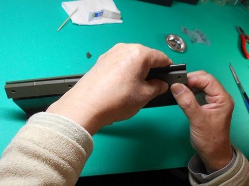 模型・ジープを作る。トレーラーの荷台を組み立てます.JPG