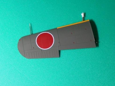 夫が作る模型飛行機「晴嵐」。ピトー管の取り付け.JPG